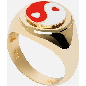 Wilhelmina Garcia Women's Yin/yang Ring - Gold/red/white - Eu 54 Yy006 Womens Jewellery, Gold