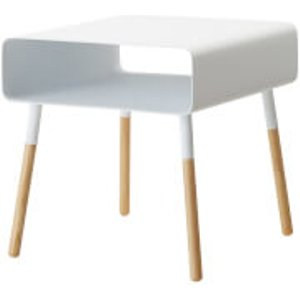 Yamazaki Plain Low Side Table - White  4229  Furniture, White