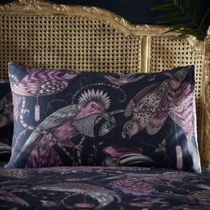 Clarke & Clarke Audubon Pillowcase Navy Housewife Cc/pilc/audubon/navy 3378