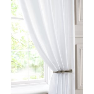 Pavilion Ready Made Curtains Chatsworth Double Width Voile Curtain Panel White 413233479720 Pv/rmc/chatsworth/wht 2007