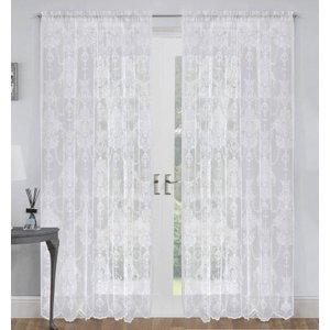 Tyrone Elizabeth Lace Voile Panel White 1485043368030 Ty/rmc/elizabeth/wht 2749