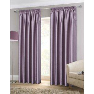 Gordon John Faux Silk Ready Made Lined Curtains Heather Gj/rmc/fauxsilk/heather 0039
