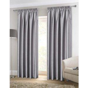 Gordon John Ready Made Curtains Faux Silk Ready Made Lined Curtains Silver Gj/rmc/fauxsilk/silver 0057