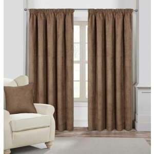 Gordon John Faux Suede Ready Made Lined Curtains Mink Gj/rmc/fauxsuede/mink 0057