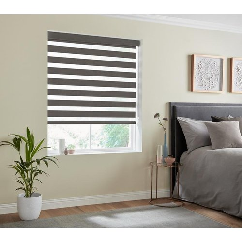 Terrys Fabrics Florence Day Night Blind Anthracite 6539418927292 Il/m2mdnb/florence/anthracite