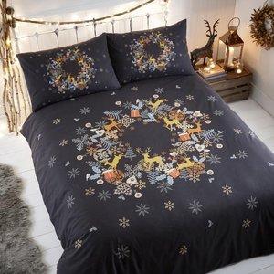 Portfolio Holly Wreath Christmas Bedding Set Multi 4286081040478 Pf/bl/hollywreath/multi 0071
