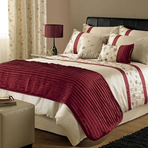 J Rosenthal Bedding Iola Embroidered Duvet Cover Red Dd/iola Edc/red 0173