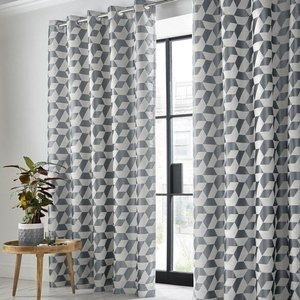 Ashley Wilde Kinetic Ready Made Blackout Eyelet Curtains Steel 1465609191518 Aw/rmc/kinetic/steel 0023