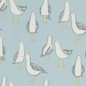 Clarke & Clarke Laridae Curtain Fabric Duckegg 1314891726942 Cc/cf/f1192/01