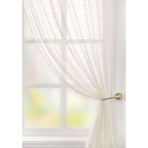 Pavilion Curtains Lucerne Voile Curtain Panel White 412772728872 Pv/rmc/vl/lucerne/wht 1229