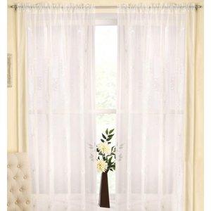 Tyrone Ready Made Curtains Malaga Rod Pocket Voile Panel Cream 1590749003870 Ty/rmc/malaga/crm 1350