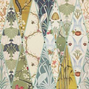 Terrys Shop Fabric Nouveau Wallpaper Curtain Fabric Multi 5965552320700 Bf/cf/nouveau/multi