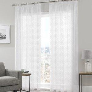 Pavilion Curtains Tetra Voile Curtain Panel White Pv/vp/tetra/whit 2744