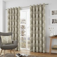 J Rosenthal Woodland Ready Made Lined Eyelet Curtains Linen 4434716459102 Jr/rmc/woodlandtrees/linen 0039