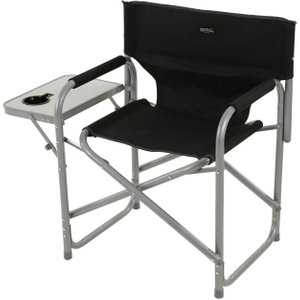 Director's Chair With Side Table Black Seal Grey Regatta