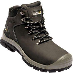 Men's Peakdale Steel Toe Cap Safety Work Boots - Black Regatta