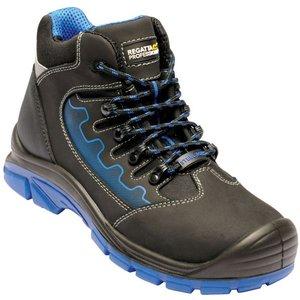 Men's Region Steel Toe Cap Safety Work Boots - Black Oxford Blue Regatta