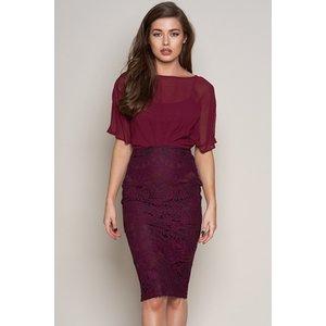 Batwing Lace Midi Dress Vestry Online 6354