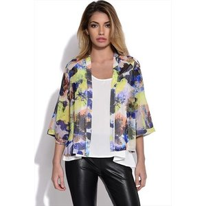Girls On Film Chiffon Floral Kimono Vestry Online 4866