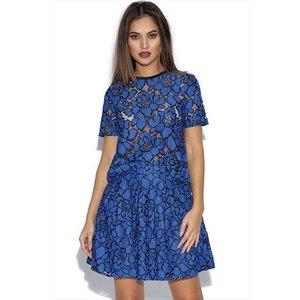 Girls On Film Cobalt Blue Floral Lace Top Vestry Online 4998