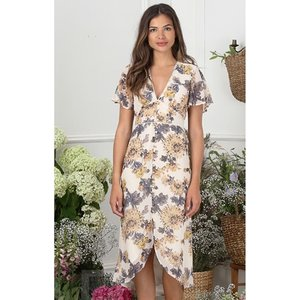 Hope And Ivy Button Front Midi Dress Vestry Online 6191
