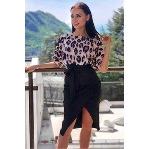 Leopard Top Batwing Wrap Dress Vestry Online 6244
