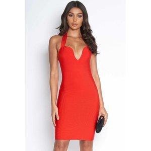 Luxe Sweetheart Red Bandage Dress Vestry Online 6413