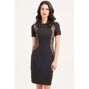 Paper Dolls Black Lace Panel Dress Vestry Online 4345