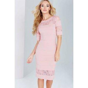 Paper Dolls Blush Lace Insert Dress Vestry Online 5497