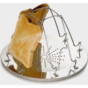 Hi-gear Folding Toaster (4 Slice) - Silver, Silver 112625 Cookware & Utensils, Silver