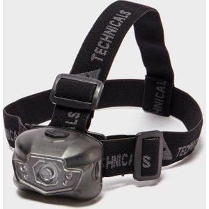 Technicals 3w + 4led Head Torch - Black, Black 82872 Outdoor Adventure, Black