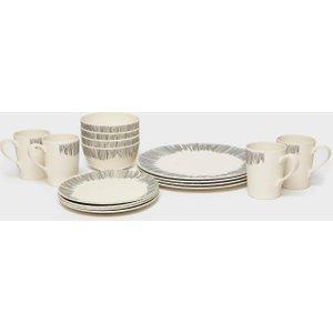Vango Bamboo 4-person Tableware Set - Cream, Cream 98238 Outdoor Adventure, Cream