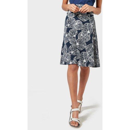 Weird Fish Women's Malmo Printed Skirt - Navy, Navy 113217 Womens Dresses & Skirts, Navy