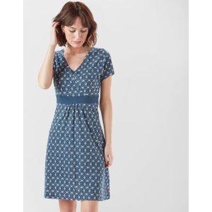 Weird Fish Women's Simi Wrap Dress - Navy, Navy 88870 Womens Dresses & Skirts, Navy
