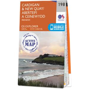 Ordnance Survey Map Of Cardigan & New Quay 1991 Books, NA