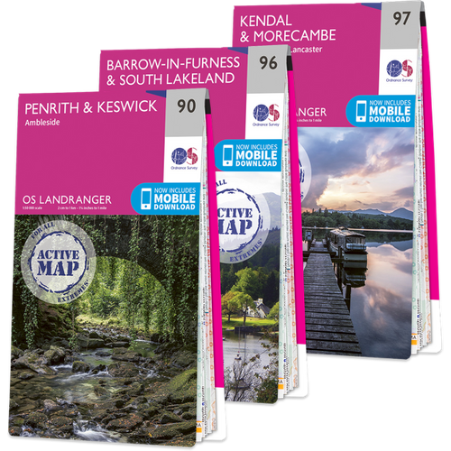 Ordnance Survey Os Landranger Lake District Map Set 1642 Books, NA