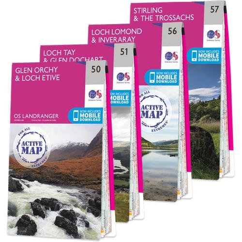 Ordnance Survey Os Landranger Loch Lomond And The Trossachs Map Set 1643 Books, NA