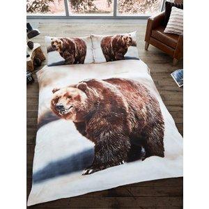 Animals 3d Bear Double Duvet Cover And Pillowcase Set Duv867 Home Textiles