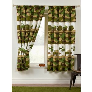 Army Camp Camouflage Lined Curtains Cur046 54 Curtains & Blinds