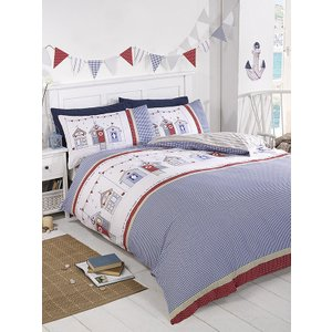Not Specified Beach Hut Single Duvet Cover And Pillowcase Set Rap023 Home Textiles