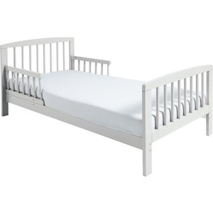 Not Specified Classic Wooden Toddler Bed White Plus Deluxe Foam Mattress Kin004 Mat003 Beds
