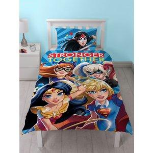 Dc Comics Dc Super Hero Girls Single Duvet Cover And Pillowcase Set Dco007 Home Textiles