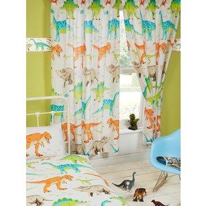 Dinosaurs Dinosaur World Lined Curtains Cur047 72 Curtains & Blinds