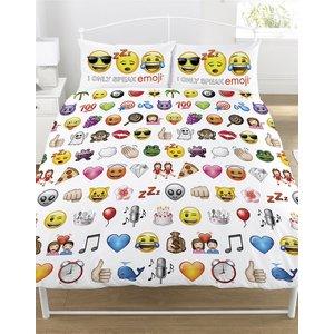 Emoji Multi Double Duvet Cover And Pillowcase Set Emo007 Home Textiles