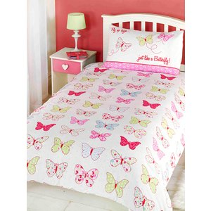 Fly Up High Butterfly Junior Toddler Duvet Cover & Pillowcase Set Duv646 Home Textiles