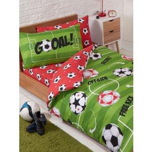 Football Red Single Duvet Cover And Pillowcase Set Rap164 Home Textiles