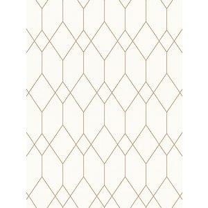 As Creation Geometric Diamond Wallpaper White / Copper Esprit 32792-1 Acr048 Painting & Decorating