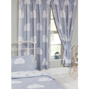 Happy Clouds Lined Curtains Cur064 72 Curtains & Blinds