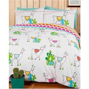 Happy Llamas Single Duvet Cover And Pillowcase Set Rap068 Home Textiles
