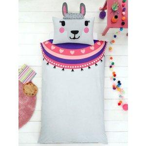 Llamas Llama Single Duvet Cover And Shaped Pillowcase Set Taa149 Home Textiles
